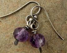 Sterling Silver Amethyst Earrings, Purple Earrings, February Birthday Birthstone Earrings, Sterling Amethyst Earings, Gemstone Earrings