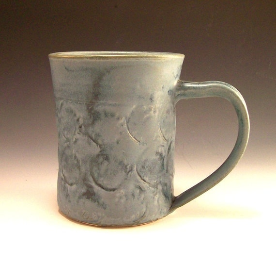 Big Ole Pottery Mug in Slate Blue for Tea, Coffee or any Beverage