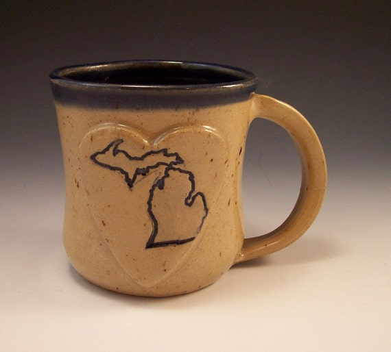 Handmade Love Michigan Pottery Mug