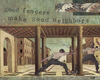 Good Fencers make good neighbors (I) Fencing Note Cards