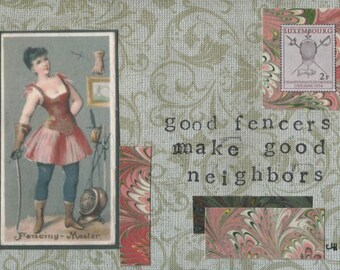 Good Fencers Make Good Neighbors (II) Fencing Note Cards