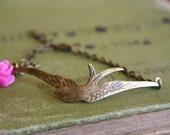 Flying Sparrow Bracelet- choose your flower's color