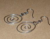 Silver Twist Earrings - Reserved for Lynn