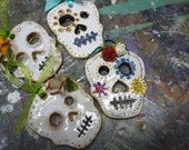 Adorable Sugar Skull Ornaments