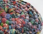 Table Coaster Rug Upcycled Bedsheet (Bombay)