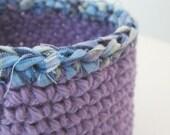 Rag Topped Bowlee Blue Plaid on Lilac