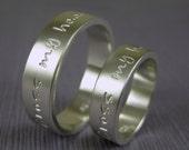 Custom wedding band ring set in sterling silver