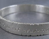 Eternity sterling silver bangle with custom inscription