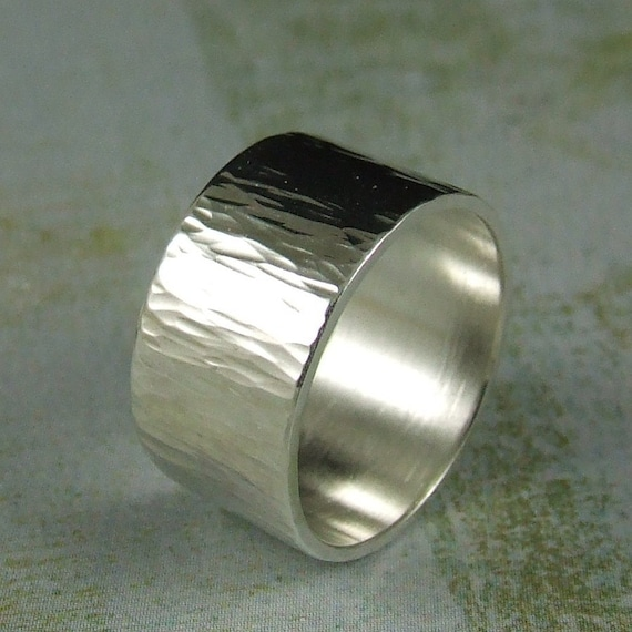 Ripples - Hammered silver ring