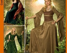 Diy Sewing Pattern-Simplicity 4940-Lord of the Rings, Maid Marian Costume Dress-Plus Size 20-26