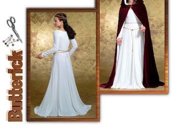 Sewing Pattern Butterick Pattern 4377, Renaissance Dress and Cloak Plus size