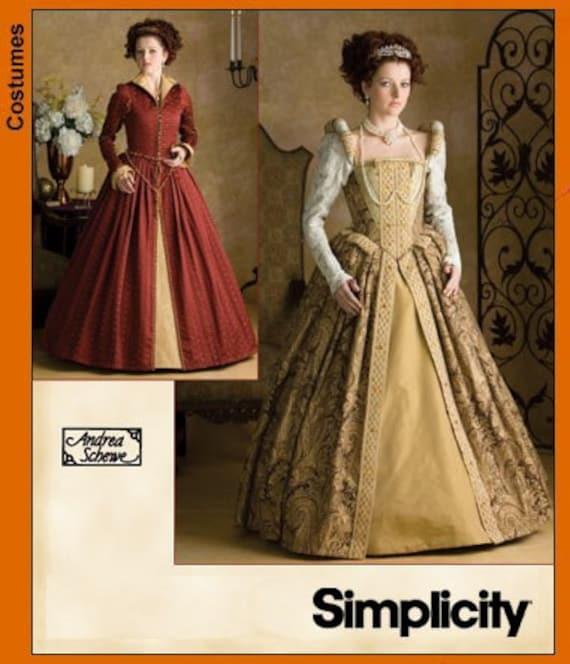 Renaissance Faire Wedding Dress Gown Costume History Mccalls: Diy Sewing Pattern Simplicity 3782 Renaissance Dress Costume