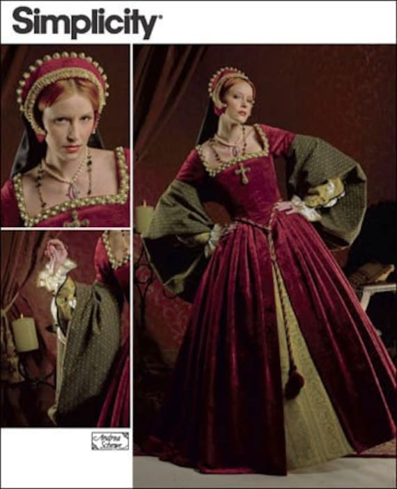 Diy Sewing Pattern Simplicity 2589- Renaissance Dress, Costume Dress
