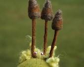 Felted Fungus - Needle Felted Mushroom Pincushion