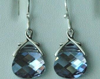 MaliBlue Large  - Swarovski Crystal MaliBlue  Earrings