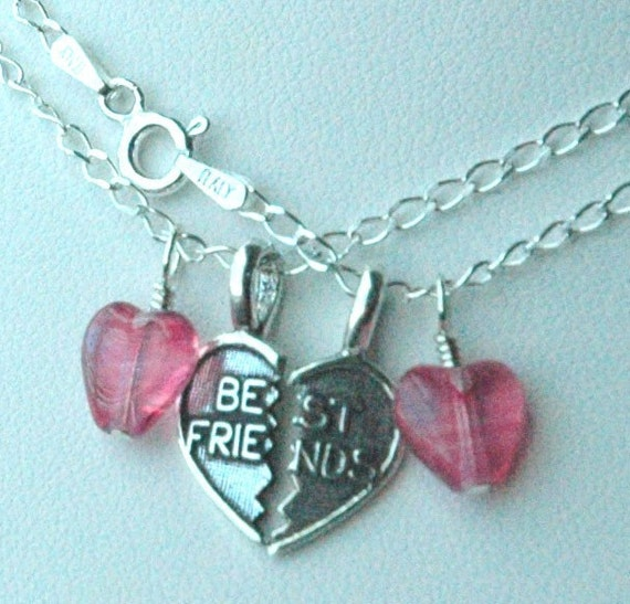 Sterling Silver BEST FRIENDS Children necklace - Set of Two