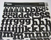 Blanched Black Alphabeans from Jillibean Soup - Cardstock Alphabet Stickers