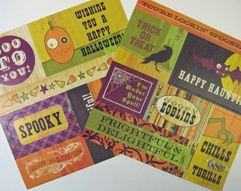 Haunted Cardstock Stickers - Pack of 14 stickers CLEARANCE