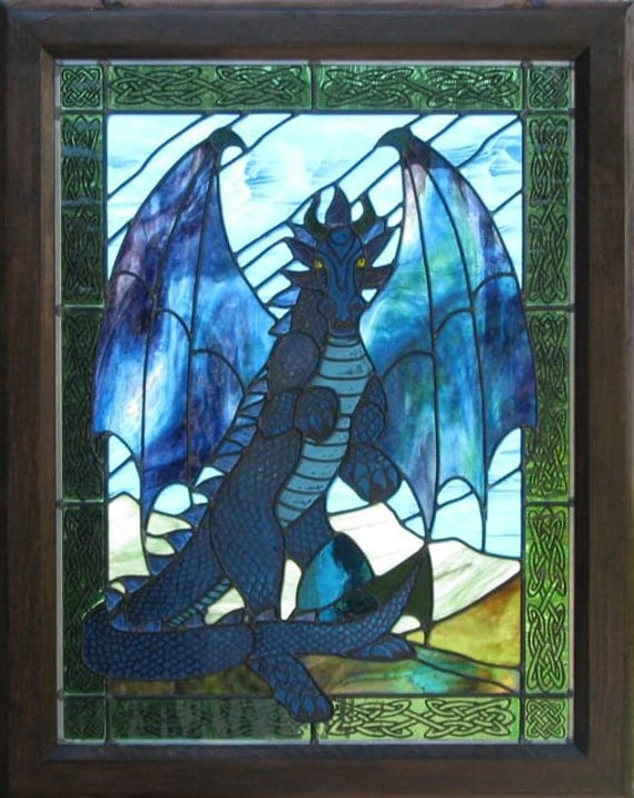 Sintara, Blue Dragon Stained Glass