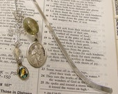 St. James Bible Bookmark -  Holy Medal beaded bookmark