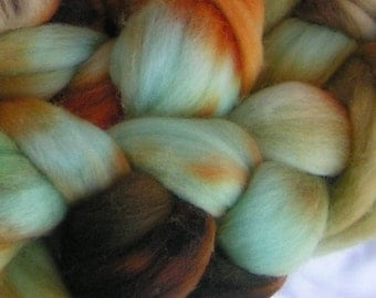 Roving top merino RAW TURQUOISE Merino Phatfiber January Feature Didn't get your Sample  Get it Now Approx  One Fourth oz