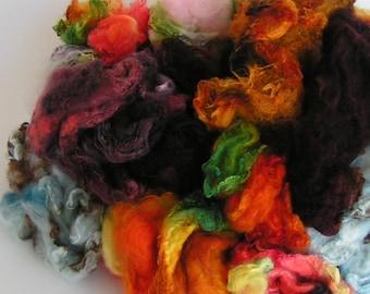MAWATA MADNESS Mix Silk Hankies Assorted Handpainted KNITPACK 42 gram Knit Spin Fusion Felt Crafts