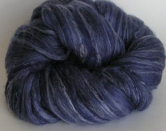 Roving Top Fiber Merino SILK Bamboo Wool ELECTRIC AVENUE 50 25 25 PhatFiber March Spin Felt Nuno Craft 4 ounces