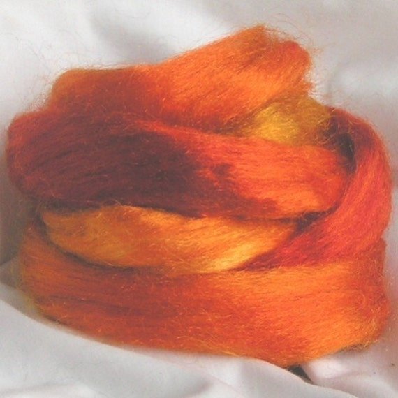 BURNIN' Firestar Hand Painted Sample PHAT FIBER March Feature Didn't get your Sample  Get it Now Fun Spin