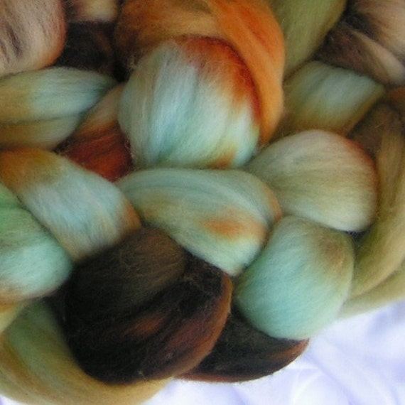 Roving top merino RAW TURQUOISE Superfine Merino Phatfiber January Feature Didn't get your Sample  Get it Now Approx  One Fourth oz