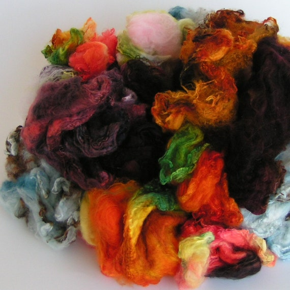 MAWATA MADNESS Mix Silk Hankies Assorted Handpainted KNITPACK 42 gram Knit Spin Fusion Felt Crafts