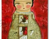 Las Raices de Frida - Frida's Roots. Print from my Original Mixed Media painting