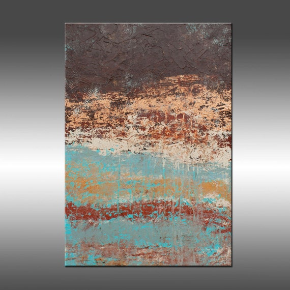 Lithosphere 64 by Hilary Winfield - 20x30 Inch Acrylic Abstract Painting on Canvas