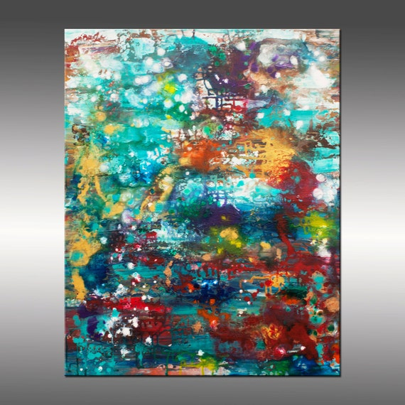 ANNUAL SALE 15% OFF! See Shop Home Page for Details - Mind's Eye, 24x30 Inch Large Original Canvas Painting, Modern Wall Art, Color