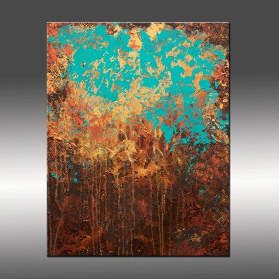 Original Abstract Modern Painting Title Awakening 24x30