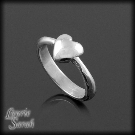 Laurie Sarah Dainty Heart Ring - For your Promise Ring, Engagement Ring, or Just Because - LS479