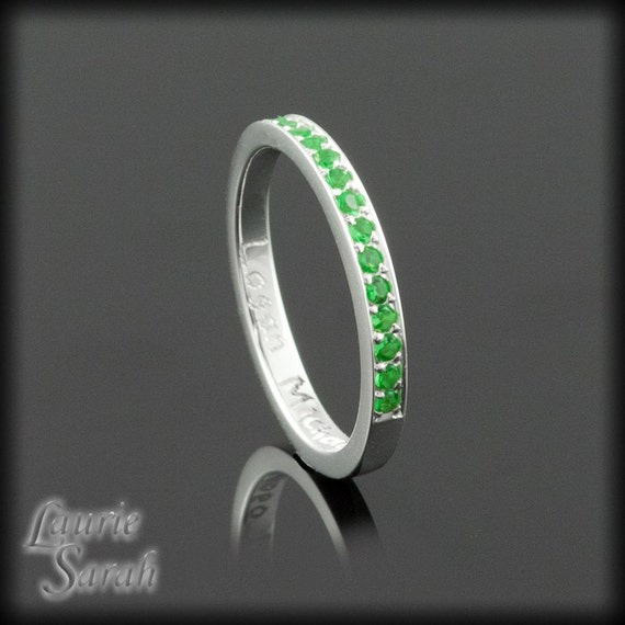 birthstone ring simulated emerald s by