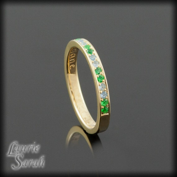 s ring simulated emerald s ring