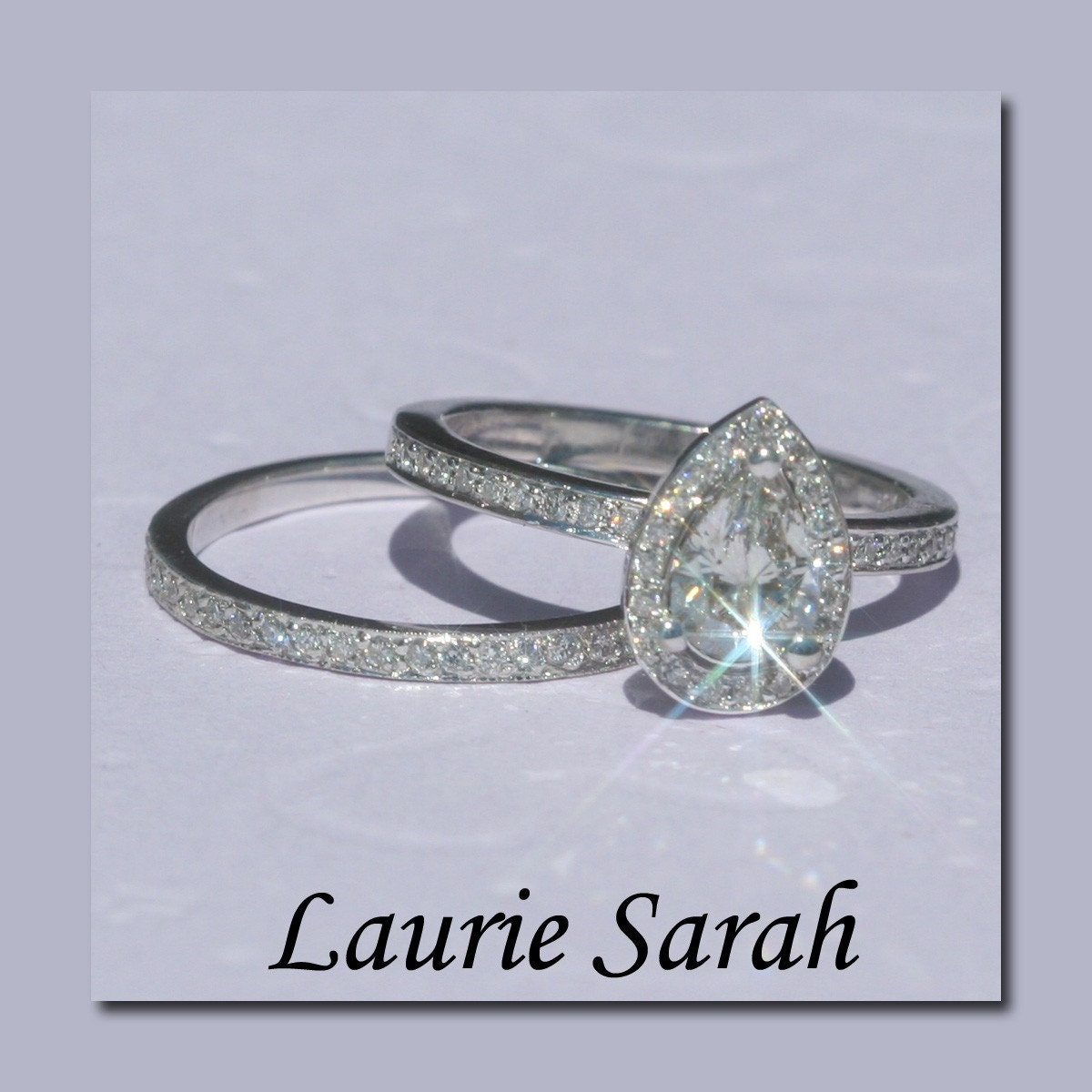 Engagement Ring Pear Shaped Diamond Engagement Ring And