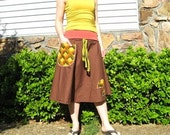 rEtrO mUshrOOm hIppIE skIrt by PEACED TOGETHER