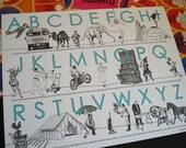 Oddball Alphabet - letterpress print