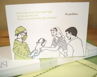 Gremlin - letterpress greeting