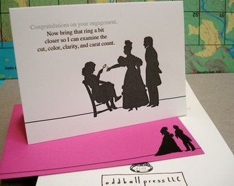 Carat Count - letterpress engagement greeting