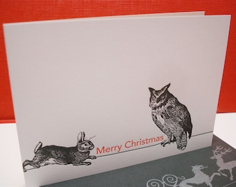 Merry Christmas - letterpress holiday greeting