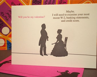 W-2 Valentine - letterpress love greeting