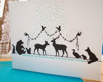 Newlyweds - letterpress wedding greeting