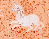 Unicorn in Blush - Heather Ross' Far, Far Away Fabric - Half Yard