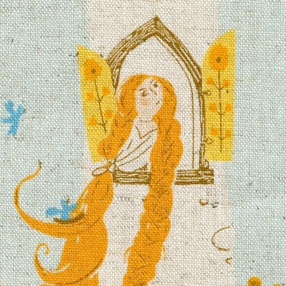 Rapunzel in Aqua - Heather Ross' Far, Far Away, Chapter 2 - Half Yard