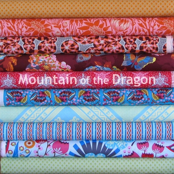 Last One - Anna Maria Horner Fabric - Loulouthi Collection Eleni Palette - 10 Fat Quarter Bundle