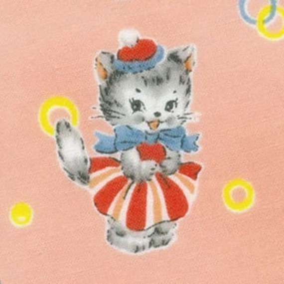 Merry Bon Bon Peach Character Scatter - Japanese CUTE Fabric -  Last 3/4 Yard