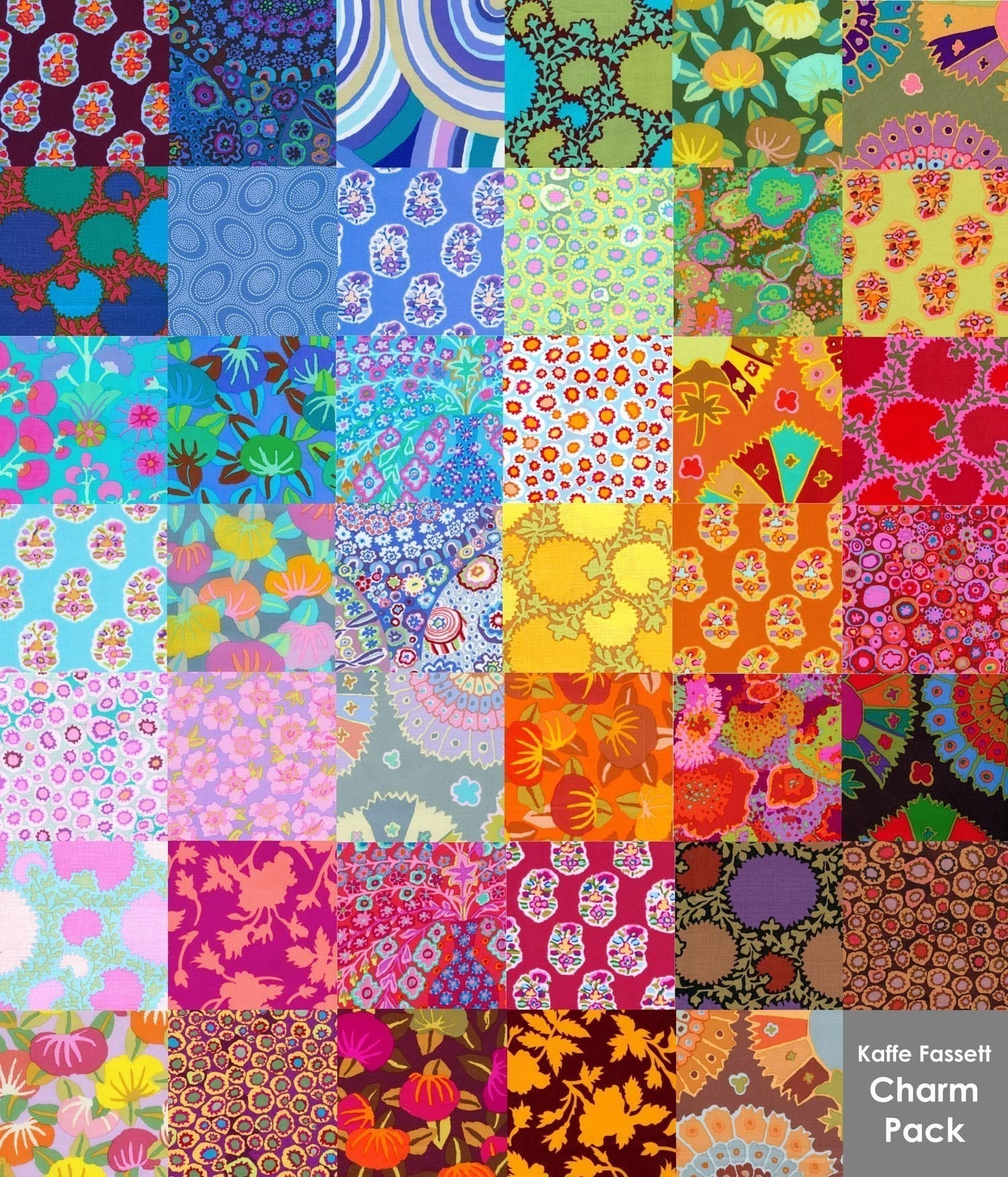 41 different kaffe fassett fabrics charm pack prewashed for The fabric of